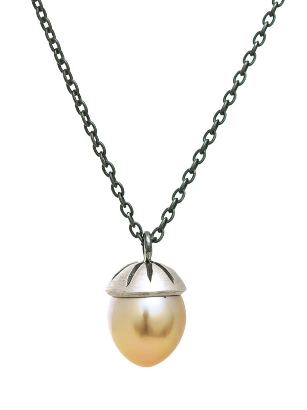 Mermaid Bauble Golden Pearl Necklace