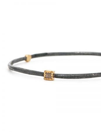 Rose Cut & Raw Diamond Bangle