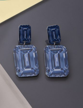Rocks Earrings - Blue Baguettes