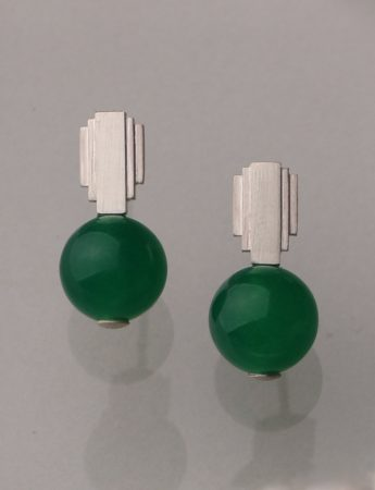 Empire State Earrings - Green Quartz