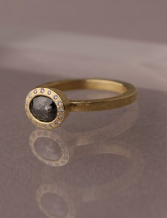 Midnight Sky Charcoal Diamond Ring