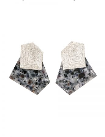 Oblique Earrings - Grey