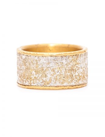 Wide Oriental Ring - Silver & Gold
