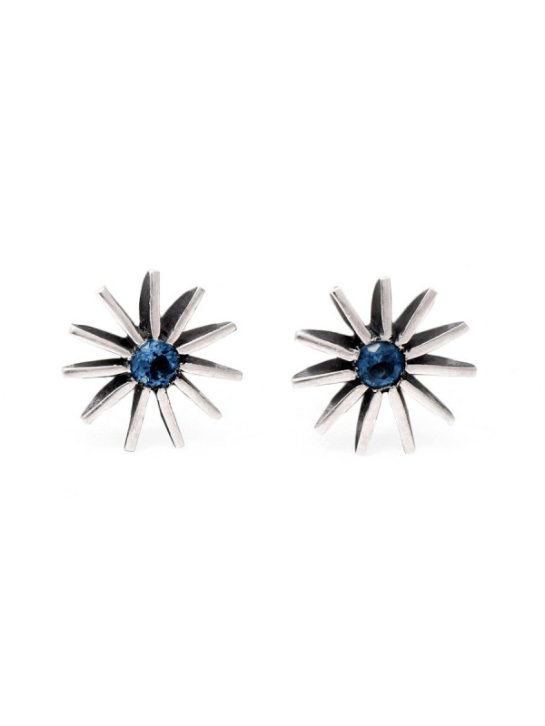 Large Radiant Star Earrings – Blue Sapphire