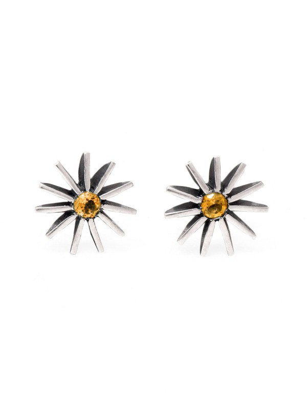 Large Radiant Star Earrings – Yellow Sapphire