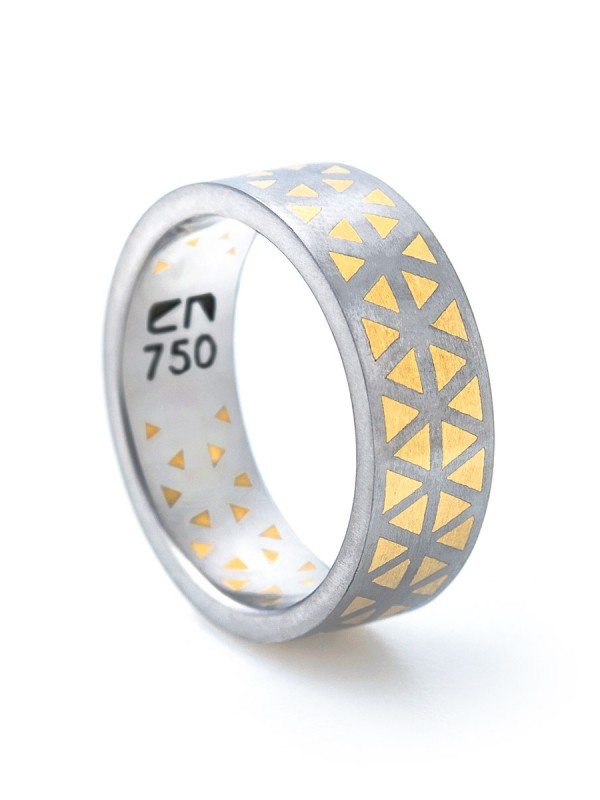 Incarnate Two Triangle Ring