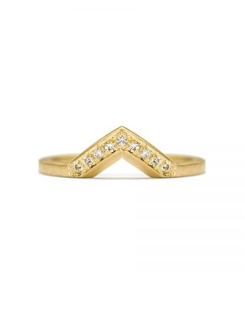 Angle Diamond Ring - Yellow Gold