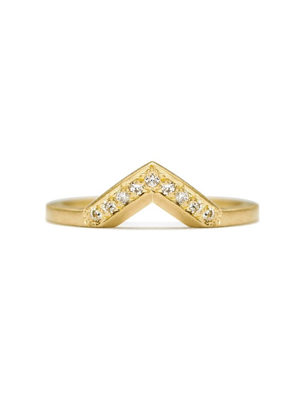 Angle Diamond Ring – Yellow Gold