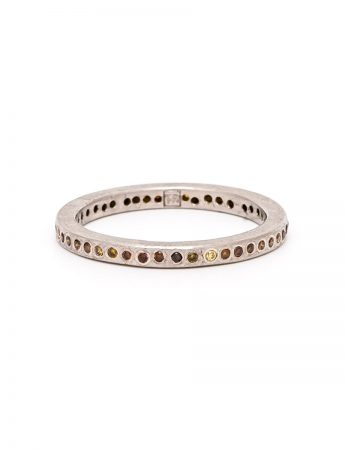 Autumn Diamond Dot Ring – Palladium