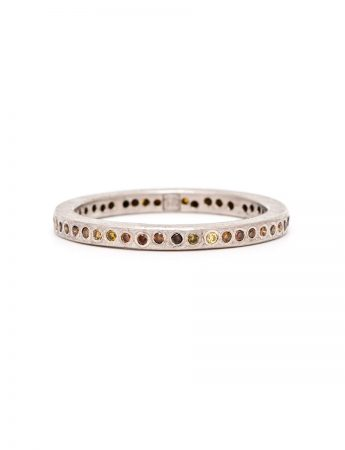 Autumn Diamond Dot Ring - Palladium