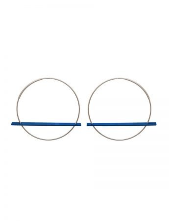 Blade Earrings - Blue