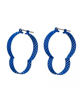 Blue Cloud Hoop Earrings
