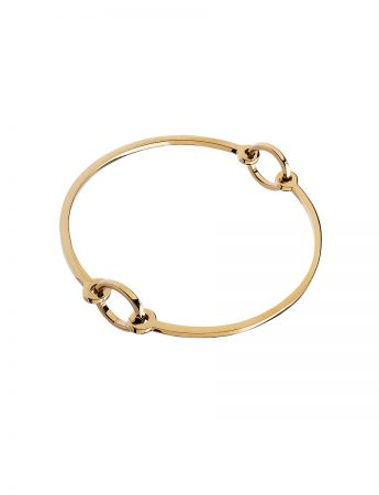 Half Circle Bracelet - Polished Yellow Gold