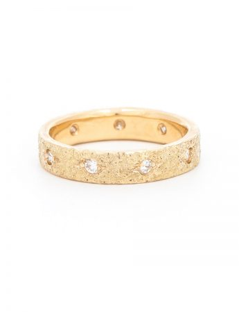 Oriental Golden Earth Diamond Eternity Ring