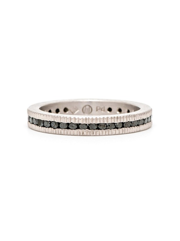 Palladium & Black Diamond Band