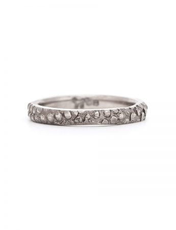 Textura Dot White Gold Wedding Band