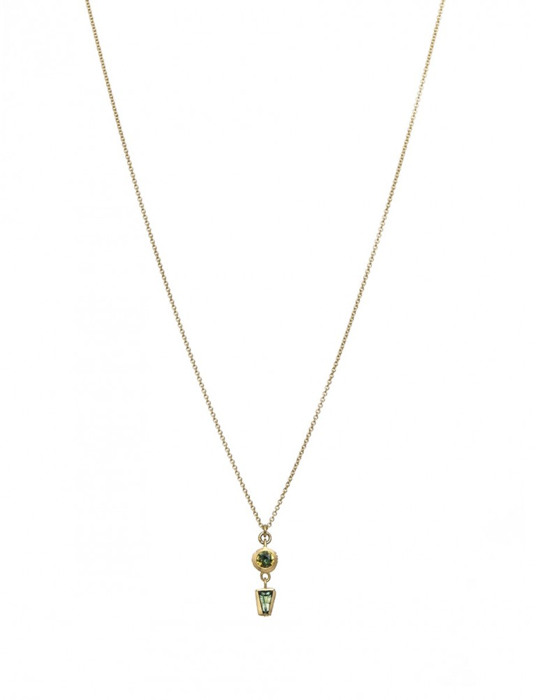Textura Double Drop Pendant Necklace