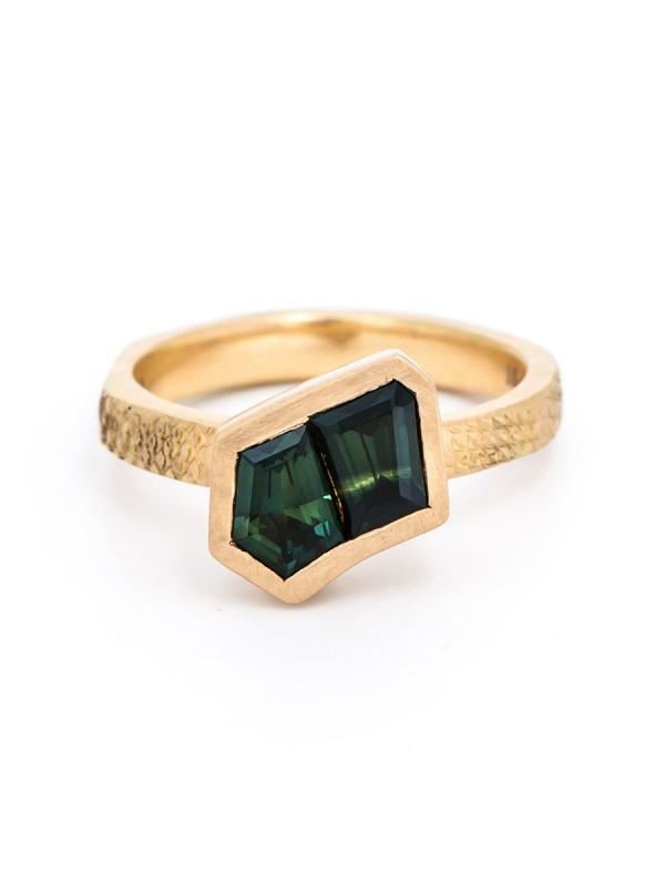 Textura Duo Free-form Sapphire Ring
