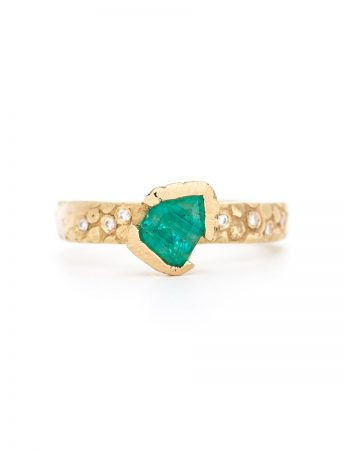Textura Free-form Emerald Ring