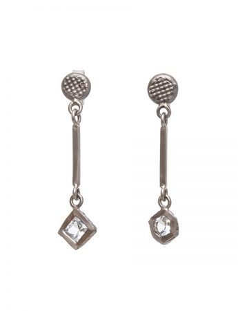 Textura Hex & Square Topaz Earrings