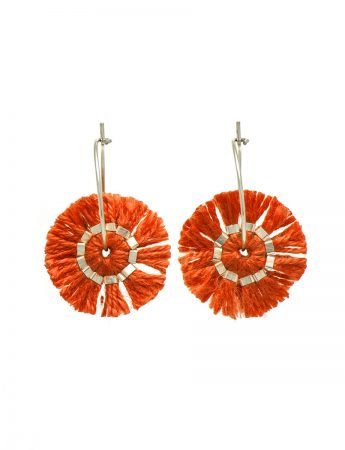 Blunt Edge Earrings - Orange