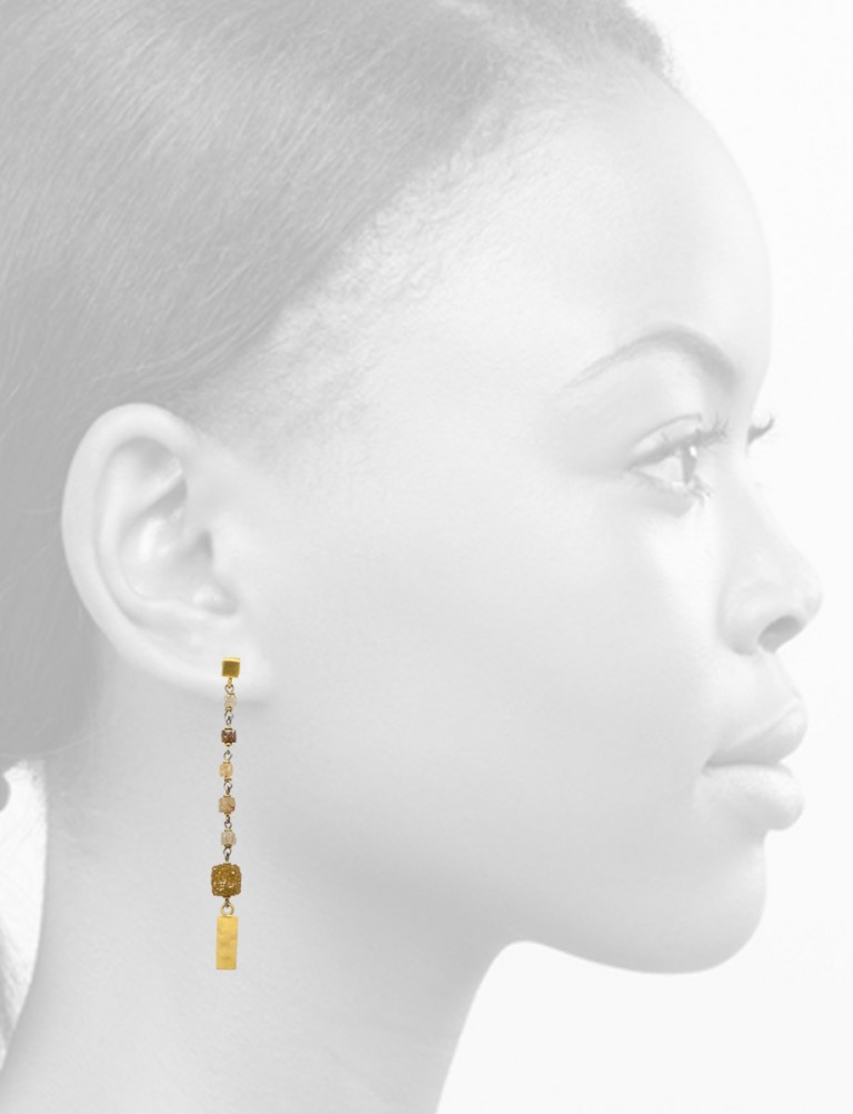 Apsara Raw Diamond Drop Earrings