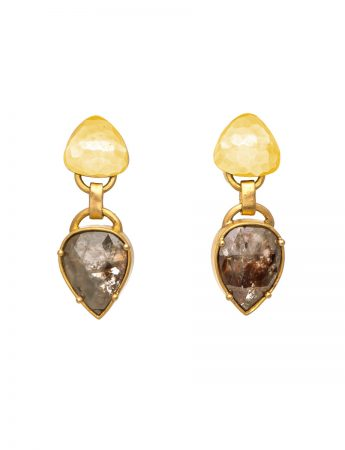 Brown Diamond Earrings