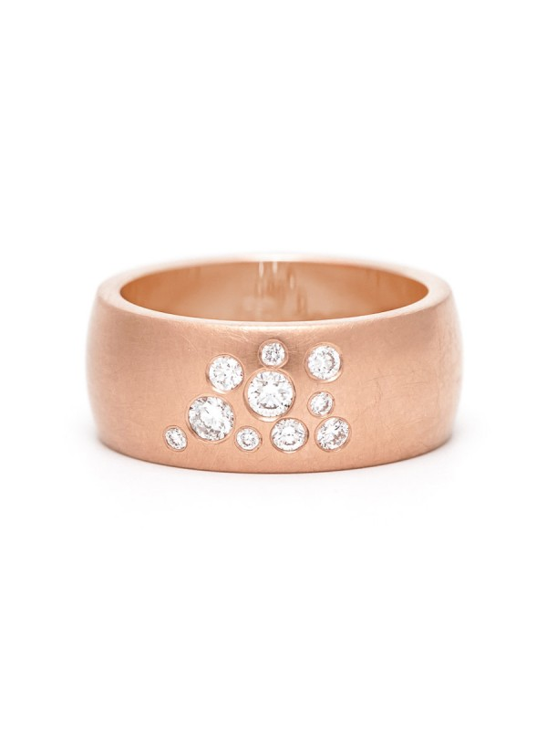 Diamond Dew Ring – Rose Gold