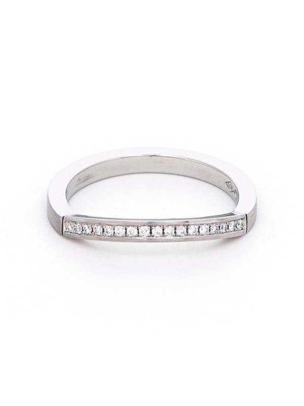 Edge Wedding Ring – Platinum & Diamond