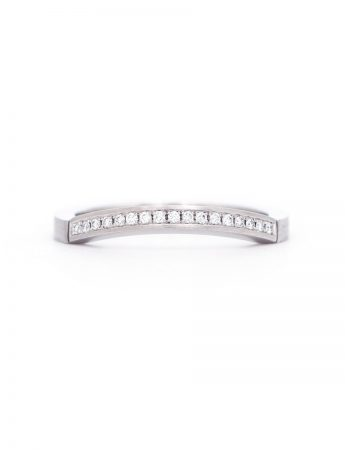 Edge Wedding Ring - Platinum & Diamond