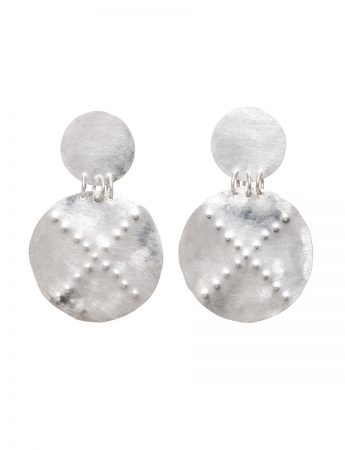 Embossed Earrings - Round