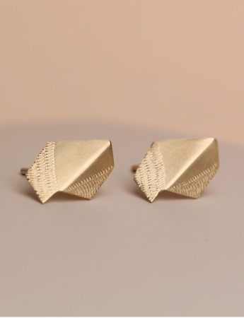 Fold Earrings - Yellow Gold