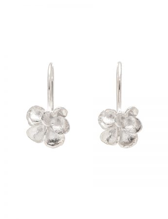 Petal Hook Earrings – Silver