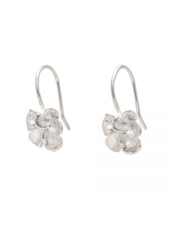 Petal Hook Earrings - Silver