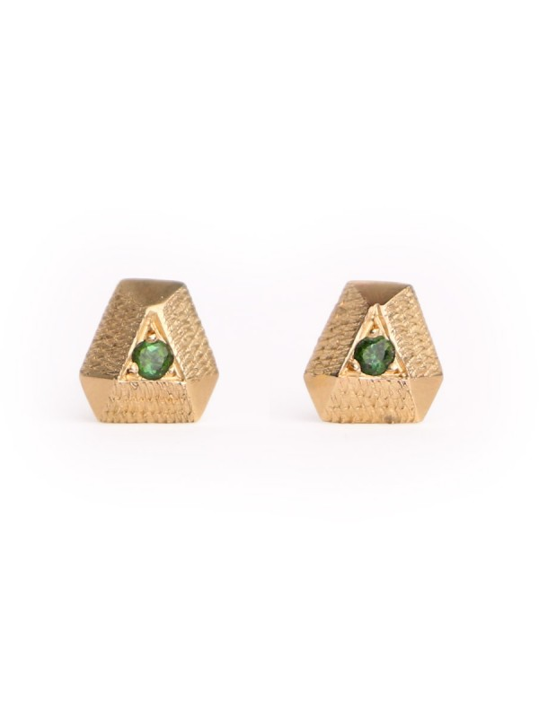 Tourmaline Point Earrings – Yellow Gold