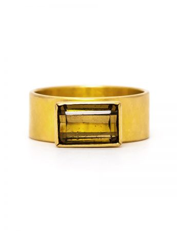 Tourmaline & Gold Ring