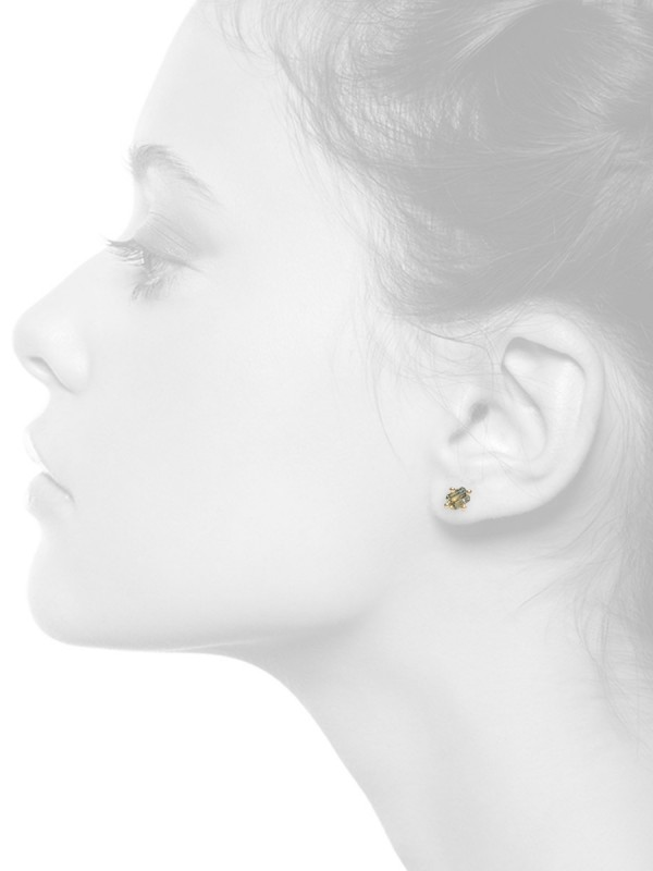 Bi-Colour Sapphire Stud – Single Earring