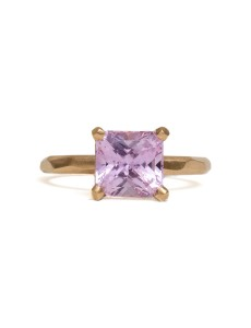 Square Radiant Pink Sapphire Ring - Krista McRae - Front