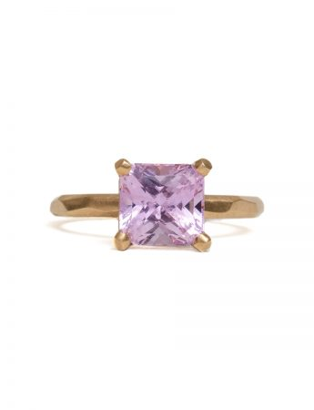 Radiant Cut Pink Sapphire Ring