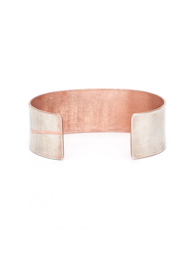 Japanese Plant Cuff – Silver & Rose Gold Plate
