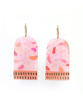 Large N Earrings - Pink