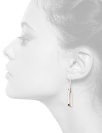 Long Silver City Earrings – Blue Sapphire