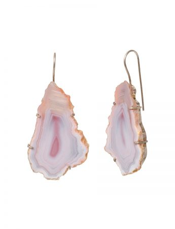 Agate Petal Earrings