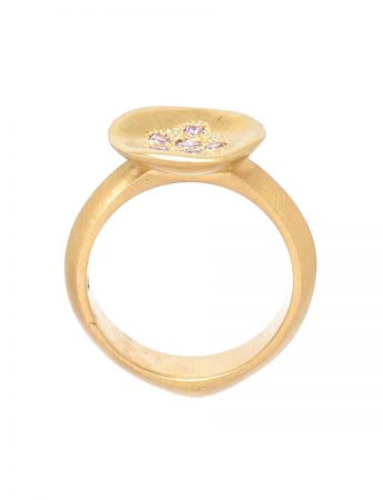 Posy Ring - Pink Diamonds