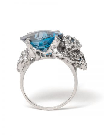 The Other Shore Ring – Topaz & Diamond
