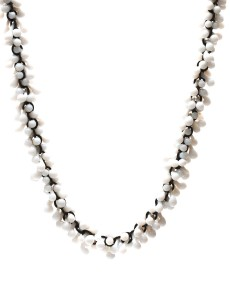 White Loose Glass Necklace - Kathryn Wardill - Front