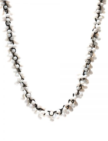 Loose Glass Necklace – White