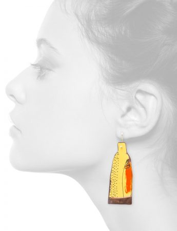Yellow Apron Earrings