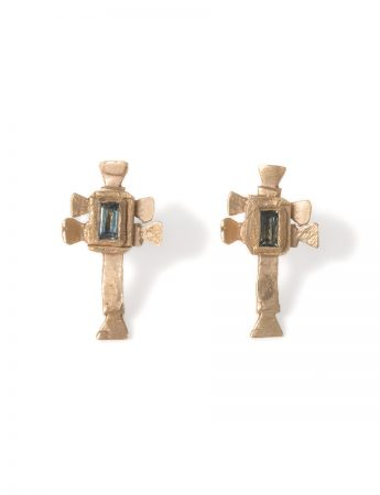 Caravaca Earrings - Gold & Sapphire