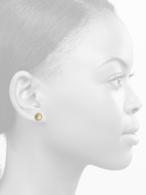 Domed Circle Stud Earrings – Gold